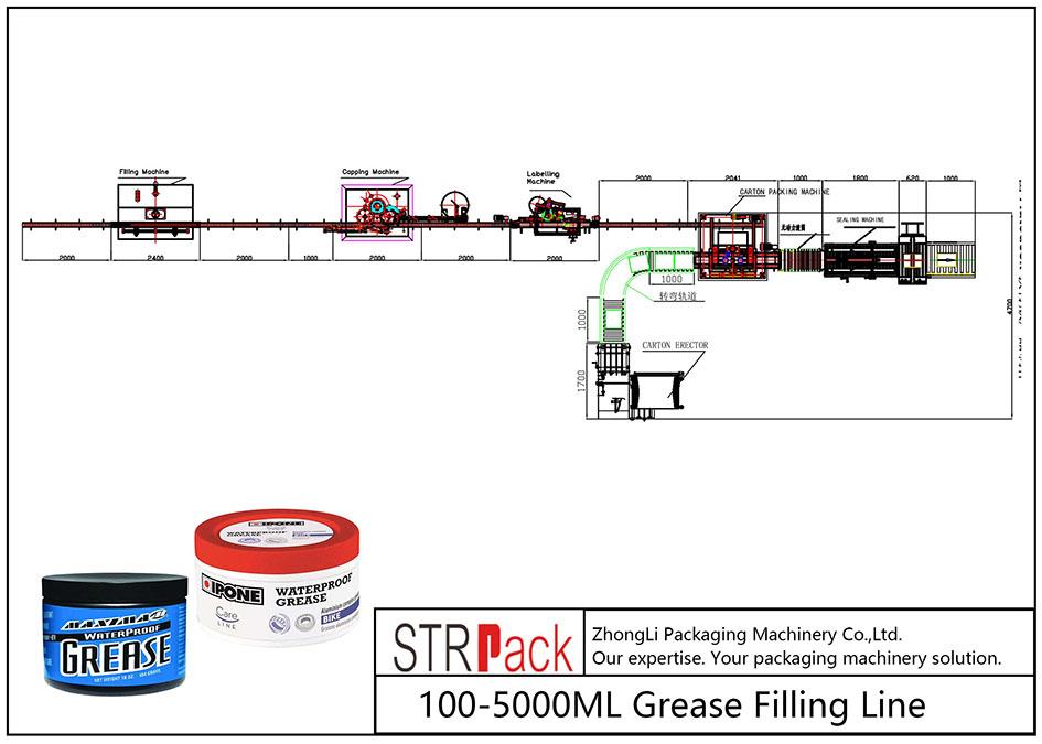 स्वचालित 100ML-5L तेल भरने की लाइन