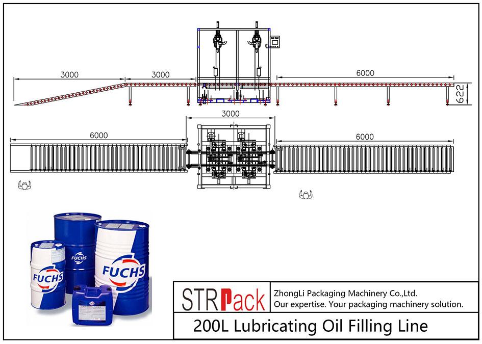 स्वचालित 200L चिकनाई तेल भरने लाइन