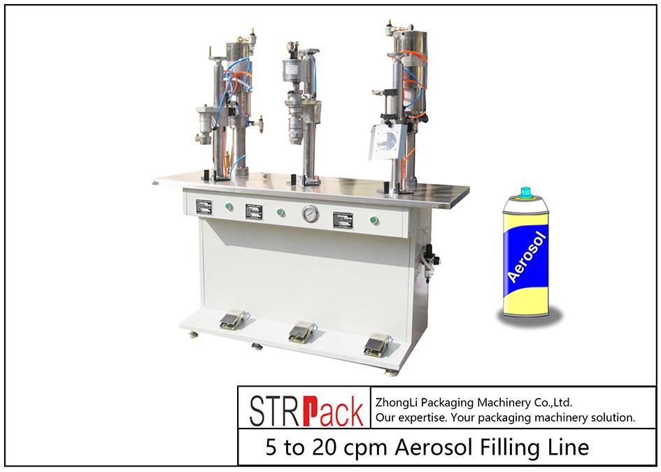 सेमी-ऑटो एरोसोल फिलिंग मशीन