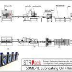 स्वचालित 50ML-1L चिकनाई तेल भरने लाइन