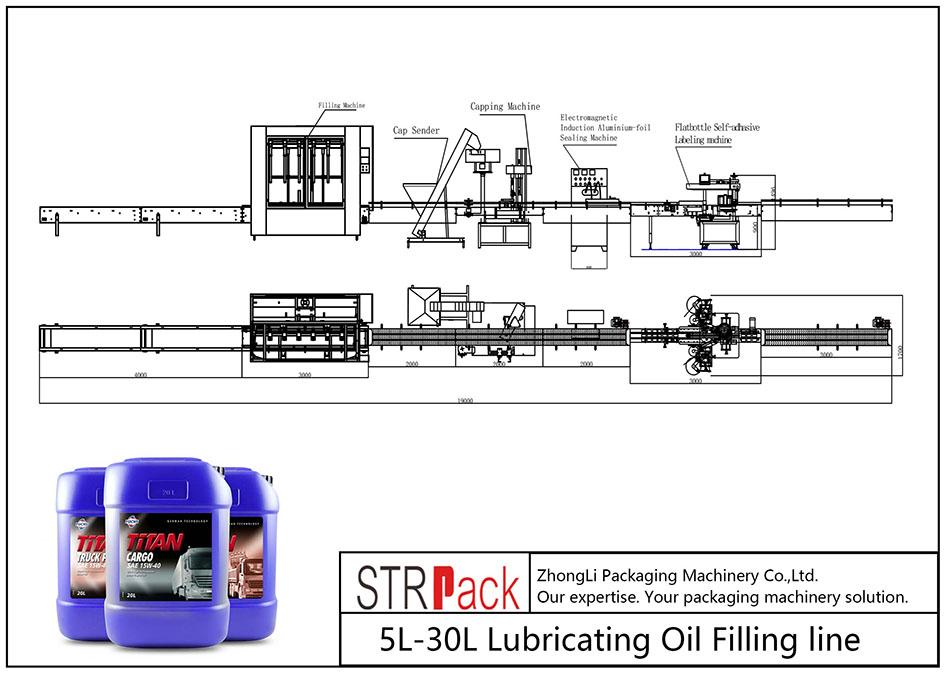 स्वचालित 5L-30L चिकनाई तेल भरने लाइन