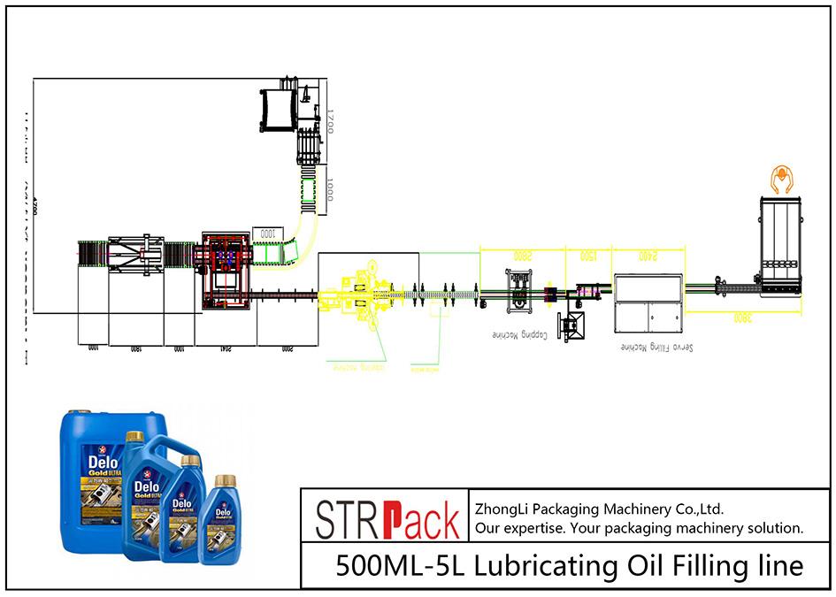 स्वचालित 500ML-5L चिकनाई तेल भरने लाइन