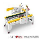 स्वचालित चिपकने वाला टेप फ्लैप तह केस कार्टन बॉक्स सीलर मशीन