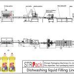 स्वचालित डिशवॉशिंग तरल भरने की रेखा