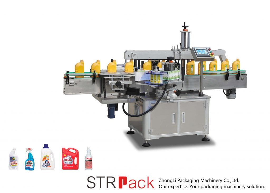 स्वचालित सिंगल / डबल साइड्स स्व-चिपकने वाला लेबलिंग मशीन