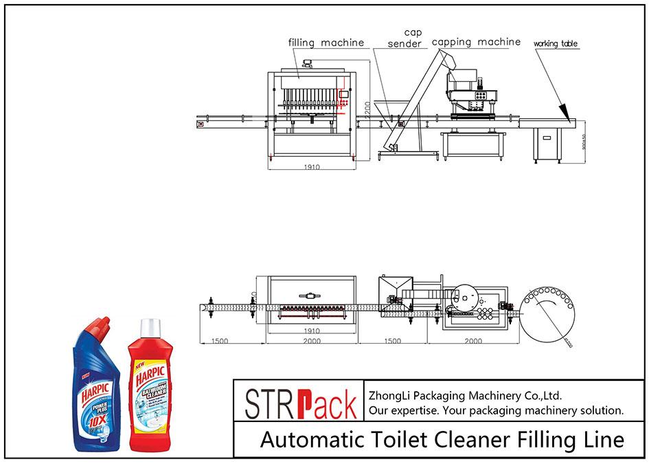 स्वचालित टॉयलेट क्लीनर भरने की लाइन