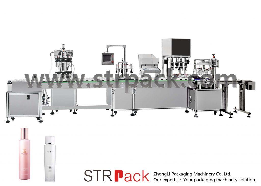 स्वचालित जल इमल्शन फिलिंग और कैपिंग मशीन