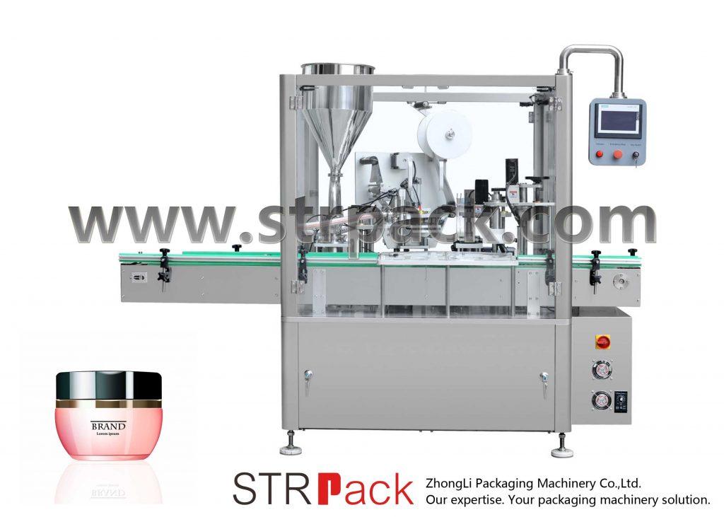 क्रीम भरना, सीलिंग और कैपिंग मशीन