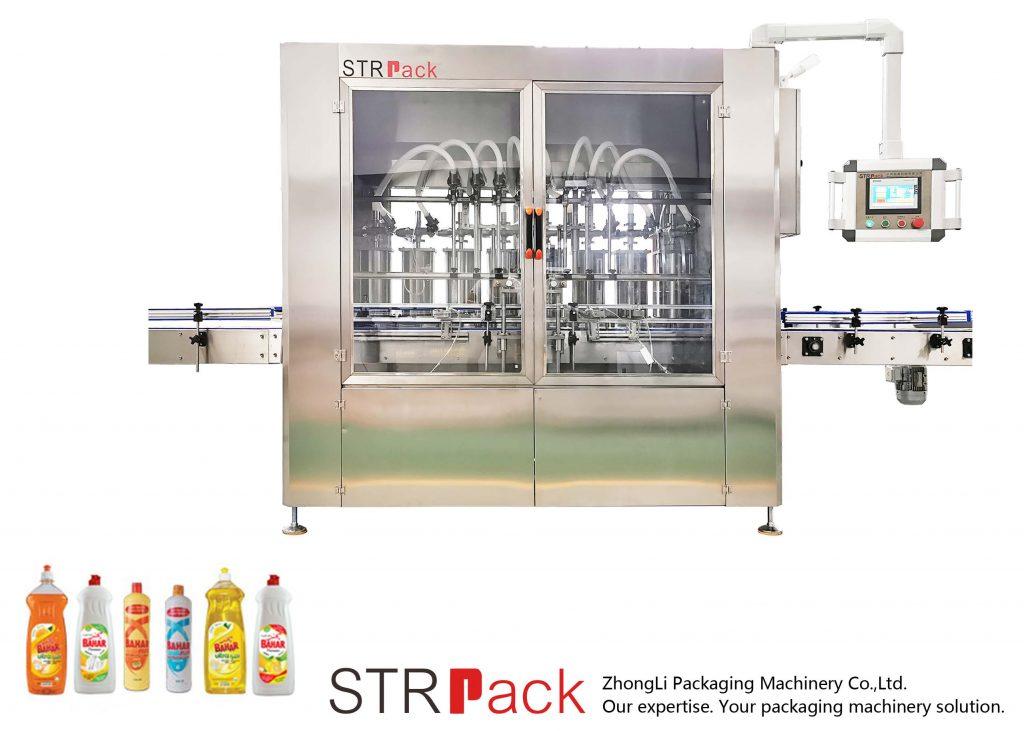 स्वचालित पिस्टन प्रकार तरल भरने की मशीन