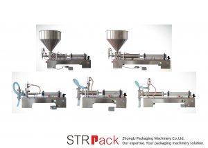अर्ध स्वचालित पिस्टन तरल भरने की मशीन